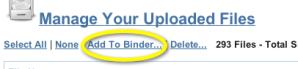 Add to binder link