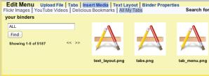 Edit menu showing All My Tabs