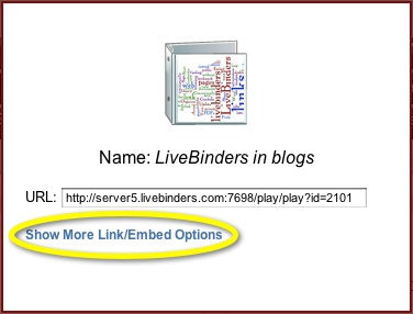 Show More Link/Embed Options