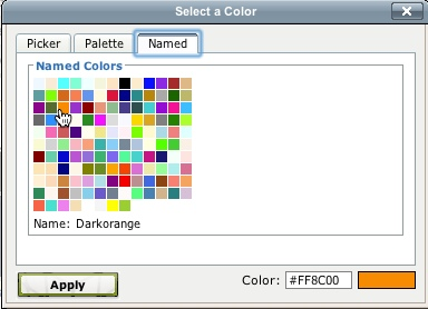 Select Tab Color